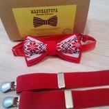 Оригинальные галстуки- бабочка от украинского бренда .Бабочка вышиванка. Деревянная бабочка.