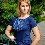 Очень красивая футболка вышиванка женская, р-р 42 - 56
