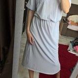 Тренд 2018г. Платье миди,ниже колен от ZARA/нежно-лилового цвета