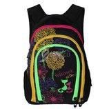 Школьный рюкзак для девочек ортопедический принт цветы вместительный и легкий