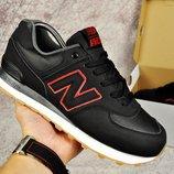 Кроссовки мужские New Balance 574 black/red