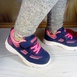 Кроссовки для девочки синие с малиновым фирмы Alemy Kids размер 28-37