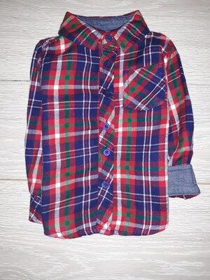 Тёплая рубашка F&F на 1,5-2,0 года