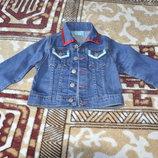 Джинсовый пиджак, жакет, курточка на девочку 104-110р