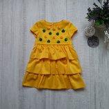 2-3 года Нарядное платье с розами