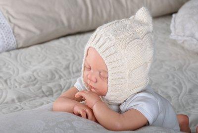 вязаные шапочки для новорожденных деми зима