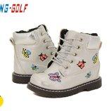 детские ботинки деми на девочку Jong Golf серебро 21р 22р 23р 24р 25р 26р 27р 28р 29р 30р 31р 32р