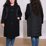Комбинированное пальто Пирс ,р-ры 54-60