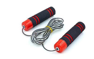 Скакалка скоростная на подшипниках с неопреновыми ручками 5103 длина 2,55м