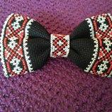 Вышитый галстук бабочка в наличии и под заказ