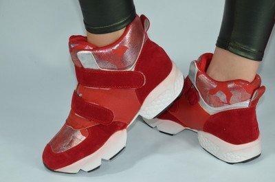 Натуральная Кожа Кроссовки Ботинки Для Яркой Модницы