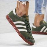Кроссовки женские Adidas Hamburg dark green