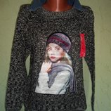 Джемпер свитер кофта с фото сублимацией М-Л