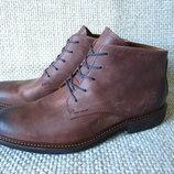 Черевики шкіряні демісезонні коричневі Ecco Kenton 512054 розмір 43