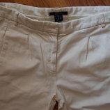 штаны, брюки GANT, укороченные, белые, М