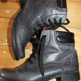 39 разм. Фирменные ботинки Gua uiua USA Army. Кожа Эксклюзив. Состояние новых Длина по внутренней с