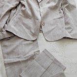 Светло-Коричневый летний брючный костюм