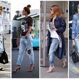 XS/S женские джинсы рваные Финляндия