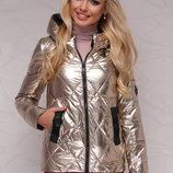 Куртка 18-28 золотистая куртка с капюшоном скл.2 Цвет золотой
