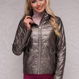 Куртка 18-126 короткая куртка на молнии скл.2 Цвет бронзовый
