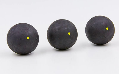Мяч для сквоша Aeroplane 7173-Y 3 мяча в комплекте сверхмедленный мяч