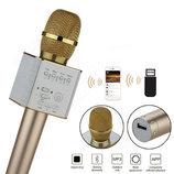 Отличный подарок Беспроводной микрофон-караоке, колонка bluetooth Q9 с USB в чехле