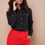 Блуза Кери Д/р черная блузка с длинным рукавом скл.2 Цвет черный