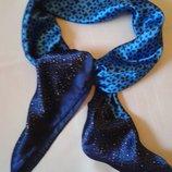 Платок атласный 87х87 синий яркий