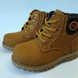 Качественные демисезонные ботинки для мальчика бренда Kellaifeng р. 27-32 , код - 188