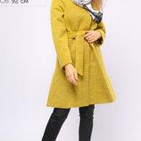 Теплое Пальто с расклешённым низом 42-48р
