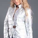 Куртка серебро стеганая плащевка синтепон 100 скл.1 арт.44450