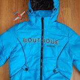 пуховик Wisdom, зимняя куртка, с капюшоном, голубая, рост 122-128