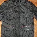 пуховик, зимняя куртка, с капюшоном, черная, рост 134-140