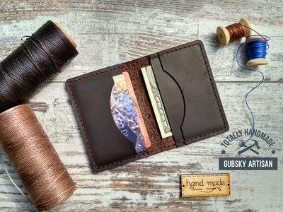 Кредитница портмоне кошелек карт холдер из натуральной кожи