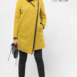 Зимнее короткое пальто с оригинальным асимметричным кроем 40-48р