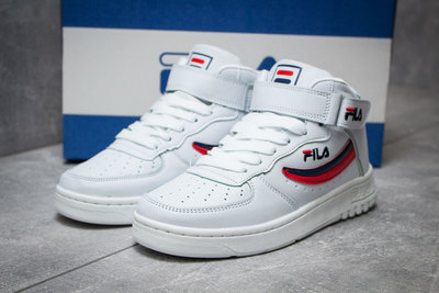 ботинки Fila, белые стелька 23,7 см последний размер кожа унисекс