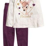 Пижама H&M Бемби Bambi Размеры на 2-6 лет