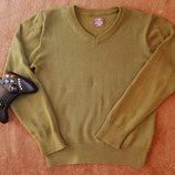 свитер H&M, реглан, зеленый, рост 134-140, 8-10 лет