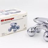 Массажер ручной роликовый 4D Massager XC-202 пластик, 4 массажных шарика