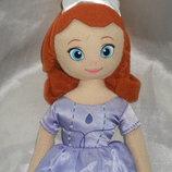 шикарная мягкая кукла принцесса София Disney Англия оригинал 28 см
