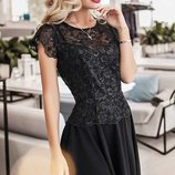 Платье нарядное вышивка на сетке креп-дайвинг скл.1 арт.36809