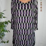 Красивое трикотажное платье с паетками большого размера