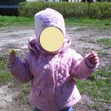 Куртка Zara baby 9-12мес.реально до 2,5лет шапка в подарок