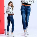 .Женский стильные джинсы Бойфренд 1819
