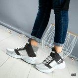 Зимние натуральные ботинки в стиле DSQUARED