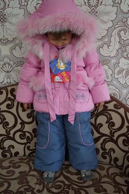 Зимний красивый и теплый костюм кико 1352 kiko для девочки