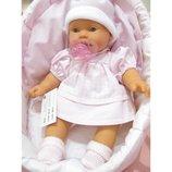 Кукла младенец Antonio Juan Лана в корзине, озвученная., 27 см, 1114P