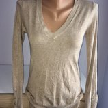 Фирменный пуловер, кофта бежевого цвета