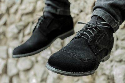 Новинка. Топ качество. Мужские замшевые туфли броги 1620 черные