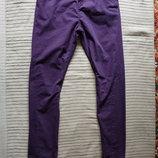 Стильные х/б брюки цвета баклажана Superior Quality by Next est 82 на 16 лет